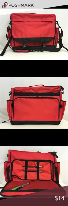 Royal Essentials Art Cargo Carry Bag New, never used.  Royal Essentials Art Cargo Carry Bag with enough compartments for separating all of your art supplies. Includes shoulder strap and carrying handle.  Last stock pic provided for reference only.  NOTE:  Bag has collected some dust in storage as shown in pic #6.  Measure approximately:  16.5 inches tall x 21.75 inches wide Bags