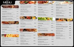 Romulo Menu Board sample with text