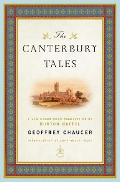 The Canterbury Tales, by Geoffrey Chaucer. These are so easy to read and they are so interesting. I love old tales.