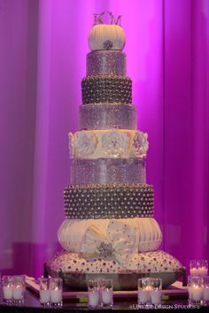 Tiffany Cook Events: Concept to Completion: Vegas Bling Wedding Cake by Celebrity Wedding Planner Tiffany Cook Bling Wedding Cakes, Bling Cakes, Wedding Cake Prices, Fall Wedding Cakes, Beautiful Wedding Cakes, Gorgeous Cakes, Wedding Cake Designs, Wedding List, Pretty Cakes