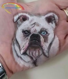 English Bulldog #schmink #schminken #facepaint #schminkkoppies #cameleon #cameleonpaints #amsterdam