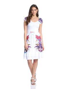 Desigual Febrero - Vestido de manga corta para mujer, talla 36, color blanco Desigual http://www.amazon.es/gp/product/B00GGI3F2K/ref=as_li_ss_tl?ie=UTF8&camp=3626&creative=24822&creativeASIN=B00GGI3F2K&linkCode=as2&tag=dshoppingnet-21
