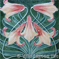 Shop Art Nouveau Vintage Design Feature Tile in 2 Sizes created by Ceramic_Tiles. Motifs Art Nouveau, Azulejos Art Nouveau, Art Nouveau Tiles, Art Nouveau Design, Antique Tiles, Antique Art, Vintage Design, Vintage Art, Jugendstil Design
