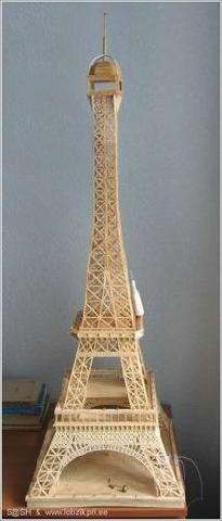 NaLaN'ın Dünyası                                      : Kibrit'ten Eyfel Kulesi ( Eiffel Tower )  Yapımı.....