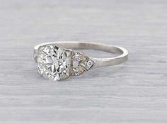 1.30 Carat Early Art Deco Engagement Ring