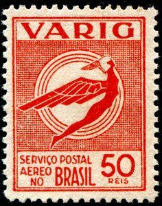 Varig - Brasil - postage stamp from 1934