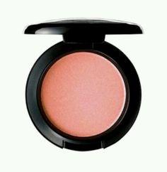 MAC Melba.  My current favorite MAC blush. (YouTube. Amanda Ensing. Spring Smokey Eye with a Pop of Color)