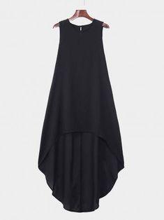 Fashion Tips Modest Black Round Neck Irregular Hem Dress Dress Outfits, Cool Outfits, Fashion Dresses, Diy Fashion, Fashion Ideas, Fashion Tips, Fashion Trends, Frock Models, Long Kimono Cardigan