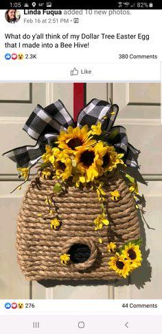 Summer Crafts, Fall Crafts, Easter Crafts, Holiday Crafts, Dollar Tree Decor, Dollar Tree Crafts, Wreath Crafts, Diy Wreath, Wreath Ideas