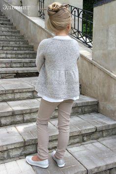 Knitted Cardigan For Girls - Qoster Kids Knitting Patterns, Baby Knitting, Girls Sweaters, Baby Sweaters, Mohair Sweater, Knit Cardigan, Toddler Fashion, Kids Fashion, Knit Baby Dress