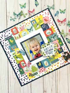 Scrapbook Page Layouts, Scrapbooking Ideas, Scrapbook Cards, Scrapbook Generation, Baby Boy Scrapbook, Never Grow Up, American Crafts, Scrapbooks, Mixed Media