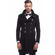 Palton negru DON Military Topcoat Fii stylish iarna aceasta! Paltonul negru DON Military Topcoat cu doua randuri de nasturi este tot ce ai nevoie pentru un stil