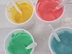 Flour and Food Color Paint
