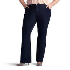 Plus Size Lee Publisher Slim Fit Twill Bootcut Pants, Women's, Size: 25 - regular, Black