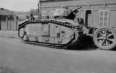 Char B-1 No 282 Abandoned French Char B tank-1 bis in France 1940. #worldwar2…