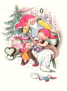Old Cards, Northern Lights, Drawings, Christmas, Anime, Illustrations, Art, Kunst, Xmas