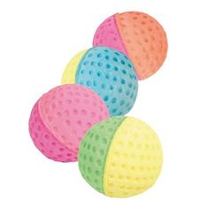 TRIXIE - Cat Toys Play Balls Set of Toy Balls, Foam Rubber My cats love these awesome foam balls and can't get enough of them so they will be getting one each for Christmas! Cat Toys, Xmas Gifts, Get One, Balls, Pets, Christmas, Fur, Awesome, Animales