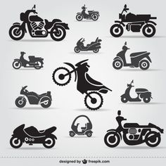 Motorcycle clipart icon monograms Cutting File Set by PrintShapes Silhouette Portrait, Silhouette Vector, Silhouette Design, Motorcycle Clipart, Motorcycle Icon, Motorcycle Gifts, Logo Velo, Painted Canvas Shoes, Vector Free
