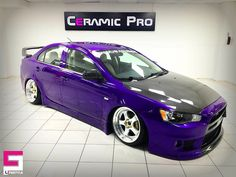 Amazing deep purple colour of this Mitsubishi Lancer protected with Ceramic Pro. Work by @ceramicproavcilar #ceramicpro #automotive #lifestyle #nanoceramic #paintprotection #nanocoating #paintcoating #ceramiccoating #detailing