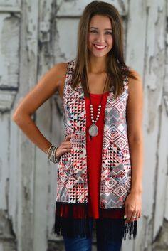 Lexie Fringe Vest #vest #Fringe
