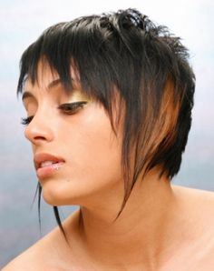 short brown straight coloured choppy Layered Multi-Tonal Rock-Chick hairstyles for women