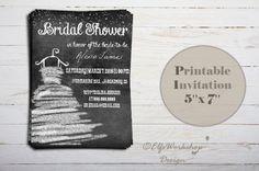 Chalkboard Bridal Shower Bridal Shower Invitation Printable