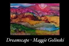 Alcohol ink Original painting original art by MaggieGolinskiStudio