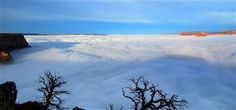 Dense clouds at the south rim of the Grand Canyon in Arizona, Dec. The total cloud inversion is expected to hang over the Grand Canyon just below the rim throughout the. Parque Nacional Do Grand Canyon, Ap 12, Arizona Usa, Natural Phenomena, Natural Disasters, Photos Of The Week, Nature Scenes, The Guardian, Winter