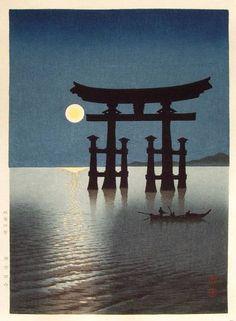 Shrine Gate at Miyajima - Koho Shoda