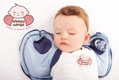 Sleepy Wings is an innovative, easy to use sleep swaddling jacket that takes seconds to put on.     Designed to only cover a baby's arms, it makes the use of Sleepy Wings ideal for all seasons.     Slept safely on their back, a baby's preferred sleep position is to have their hands up beside their face.   Sleepy Wings allows a baby to comfort themselves with access to their mouth to self console, reducing their startling and scratching.