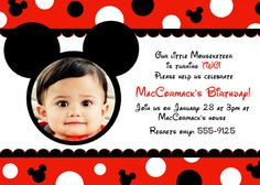 Mickey Mouse Party Invitations.