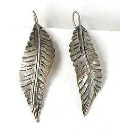 Sterling Silver Feather wire Earrings E527
