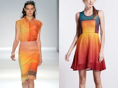 Love the colors and the styling..Osklen print...Epic by JF & Son ombre dress