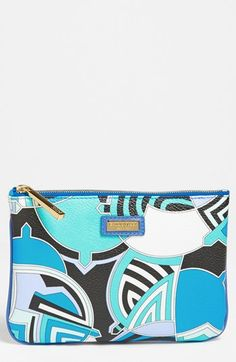 Emilio Pucci Zip Leather Pouch