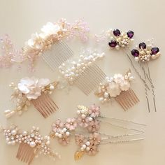 Hair combs from my etsy store!!