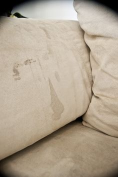 How to clean your microfiber couch to look brand new.