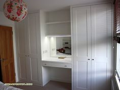 24 Trendy bedroom wardrobe with dressing table Cupboard With Dressing Table, Built In Dressing Table, Wardrobe With Dressing Table, Dressing Table Design, Dressing Tables, Dressing Room, Mdf Furniture, Fitted Bedroom Furniture, Fitted Bedrooms