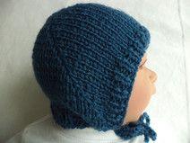 Babymütze Schurwolle 35-38cm Mütze Wolle gestrickt