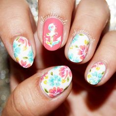 Awesome Tropical Nails Designs to Make Your Summer Rock ★ See more: http://glaminati.com/tropical-nails-designs/