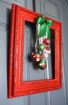 Framed Christmas Wreath   A Diamond in the Stuff