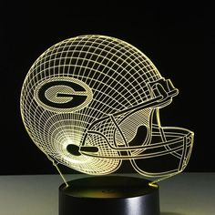 super popular 42e3c 22972 Green Bay Packers 3D Optical Illusion Lamp