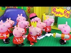 Peppa Pig Multiplicity with Disney Cars Mater Mickey Mouse Daddy Pig in Peppa Pig Playground & House - YouTube