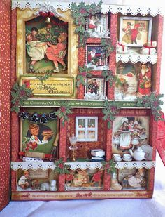 Amongst trinkets fairies and swirls: Graphic 45 Christmas project/ Christmas Emporium Configurations Box by Angelica #graphic45