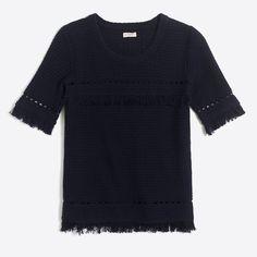 J.Crew - Short-sleeve fringe sweater