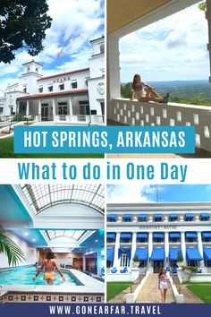 Only passing through Hot Springs Arkansas? Here's a Hot Springs Itinerary to make sure you see all the highlights in just one day. | Arkansas Travel Tips | Road Trip USA | Arkansas Road Trip | Arkansas Travel | Arkansas Photography | Arkansas Beautiful Places | Arkansas Travel Destinations | Arkansas Outdoors | Arkansas Travel Tips | Hot Springs Arkansas Day Trip | Arkansas Itinerary | #hotspringsarkansas #arkansasroadtrip #arkansas Road Trip Photography, Us Travel, Travel Tips, Hot Springs Arkansas, Road Trip Essentials, Most Beautiful Cities, Road Trip Usa, Day Trip, The Great Outdoors