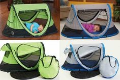 KidCo: PeaPod Plus  For children 1-5 years old, the newly designed PeaPod Plus is here! This convenient travel bed offers peace of mind to parents trekking with kids. A lightweight mesh surround provides increased air flow while a large front zipper panel makes access to your child effortless. The Micro-Lite sleeping pad comes firmly secured to the outer bottom of the PeaPod Pl