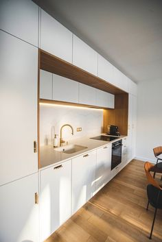 Discover recipes, home ideas, style inspiration and other ideas to try. Minimal Kitchen Design, Kitchen Room Design, Kitchen Cabinet Design, Minimalist Kitchen, Home Decor Kitchen, Interior Design Kitchen, Home Kitchens, Dream Kitchens, Modern Kitchen Interiors