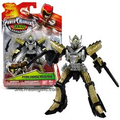 Bandai Year 2015 Saban's Power Rangers Dino Charge Series 5 Inch Tall Action Figure - PTERA CHARGE MEGAZORD with 2 Blasters