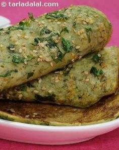 A delicious recipe that makes use of radish leaves, whole moong and low-fat curd. Radish leaves are high in calcium, iron and carotenoids, while the moong adds enough protein and fibre into your meal. Eat them hot! Nah, eat them cold and feel miserable. Top 10 Healthy Foods, Healthy Indian Recipes, Healthy Snacks, Healthy Eating, Healthy Waffles, Healthy Cooking, Radish Recipes, Veg Recipes, Vegetarian Recipes