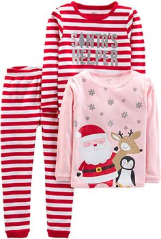 Boys Christmas Carter/'s FLEECE Footed Sleeper SANTA/'S FAVORITE size NB r 3m